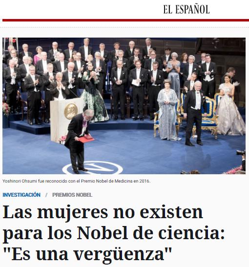 NOBEL DE CIENCIA Y MUJER
